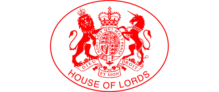 Royal Seal and house of Lords text